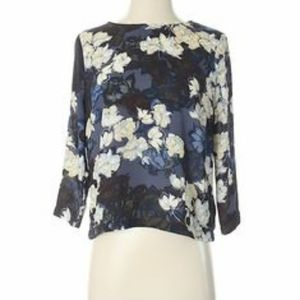Eight Sixty Floral High Low Blouse